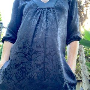Myne little black black boho dress w pockets